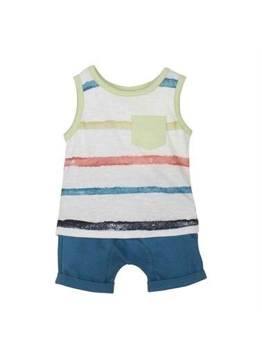 Mamino Mamino  2'Li Takım Erkek Bebek  Mavi